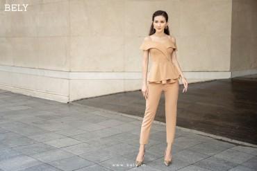 Q148 - Quần côn đứng cạp cao thiết kế 2 túi chéo - Đen, Trắng, Nude - Bely